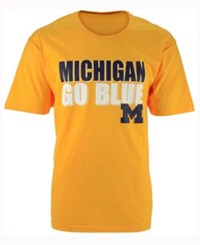 Colosseum Men's Michigan Wolverines Wordmark Stack T Shirt Yellow