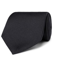 Tom Ford 8Cm Woven Tie Black