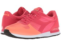Diadora N9000 Nyl Poppy Red Irish Green Athletic Shoes Pink