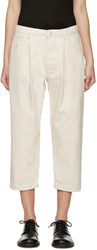 Studio Nicholson Beige Alfini Pleated Denim Trousers