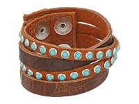 Leather Rock B622 Handtiqued Auburn Etna Eagle Cognac Old Silver Patina Cabs Bracelet Brown