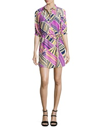 Alice And Trixie Liv Printed Tie Waist Shirtdress