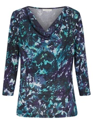 Kaliko Autumnal Leaf Emma Top Multi Purple