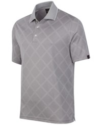 Greg Norman For Tasso Elba Men's Diamond Sun Protection Performance Polo Only At Macy's Silver