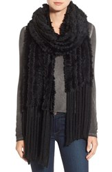 La Fiorentina Women's Genuine Rabbit Fur Scarf