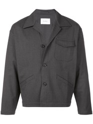 Second Layer Buttoned Jacket Grey
