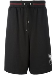 Mcq By Alexander Mcqueen Side Stripe Shorts Black