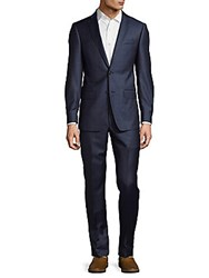 Michael Kors Windowpane Suit Blue