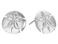 Alex And Ani Post Earrings Sand Dollar Silver Earring