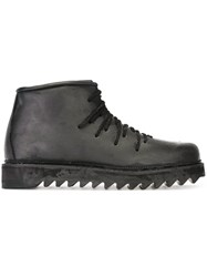 11 By Boris Bidjan Saberi Lace Up Ankle Boots Black