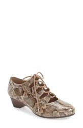 Bella Vita Women's 'Posie' Ghillie Pump Natural Snake Print Leather