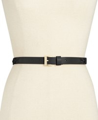 Kate Spade New York Patent With Grosgrain Bow Belt Black