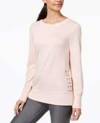 Ideology Lace Up Detail Top Created For Macy's Pure Pink