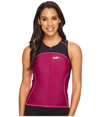 Louis Garneau Women Comp Sleeveless Black Magenta Purple Pink Glow Women's Sleeveless