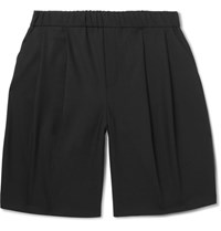 Mcq By Alexander Mcqueen Wide Leg Pleated Woven Shorts Black