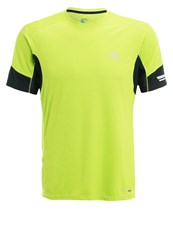 Salomon Agile Sports Shirt Lime Green Black Neon Yellow