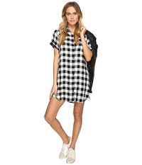 Bb Dakota Alexia Plaid Shirtdress Black Women's Dress