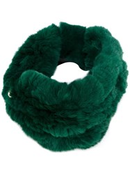 Yves Salomon Fur Headband Green
