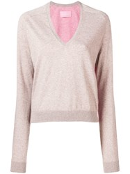 Zadig And Voltaire Classic V Neck Sweater Neutrals
