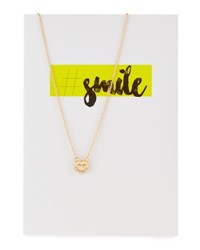 Lydell Nyc Smiley Necklace With Card