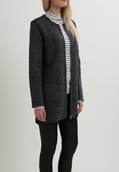 Vila Vicille Short Coat Dark Grey Melange