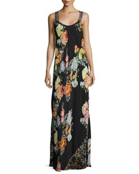 Johnny Was Mixed Print Maxi Dress Plus Size Multi A