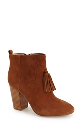 French Connection 'Linds' Tassel Ankle Bootie Women Brown Suede
