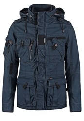 Khujo Funker Winter Jacket Navy Dark Blue
