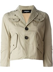 Dsquared2 Flap Pocket Jacket Nude And Neutrals