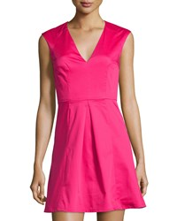 French Connection Classic Capri Sleeveless Fit And Flare Dress Passion Pink