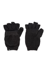 Plush Fleece Lined Texting Mittens Black