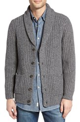 Pendleton Men's Lambswool Blend Shawl Collar Cardigan Medium Grey