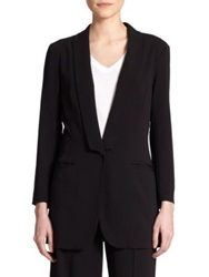 Atm Anthony Thomas Melillo Shawl Collar Blazer Black