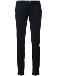 Loveless Zip Pocket Skinny Jeans Black