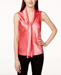 Nine West Sleeveless Tie Neck Blouse