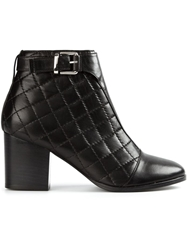 Thakoon Addition Quilted Ankle Boots Black