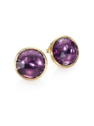 Marco Bicego Jaipur Amethyst And 18K Yellow Gold Earrings