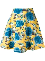 Marc By Marc Jacobs Floral Circle Skirt Yellow And Orange