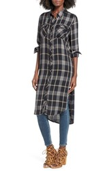 Women's Bp. Plaid Tunic Shirt