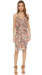 Tbags Los Angeles Knee Length Dress With Knot Detail Multi