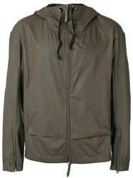 Premiata Hooded Jacket Men Calf Leather 48 Grey