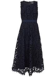 Mint Velvet Ink Lace Full Dress Dark Blue