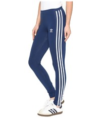 Adidas 3 Stripes Leggings Mystery Blue Women's Casual Pants