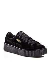 Fenty Puma X Rihanna Women's Velvet Creeper Sneakers Black