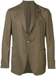 Gabriele Pasini Single Breasted Blazer Green