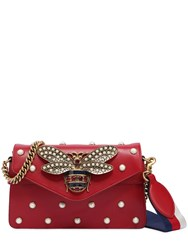 Gucci Broadway Bee Embellished Leather Bag