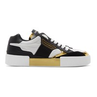 Dolce And Gabbana Black White Logo Sneakers