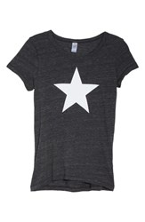 Alternative Apparel Ideal Star Tee Eco Black With Star