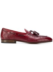 Fabi Tassel Detail Loafers Red