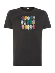 Paul Smith Cycling Casquettes Graphic Crew Neck T Shirt Black